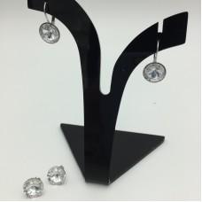 Crystal earrings - April