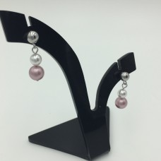 "Pearl earrings ""Cherry blossom"""