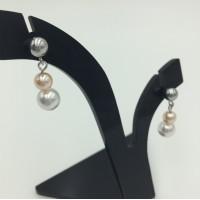 """Pearl earrings """"Peach complexion"""""""