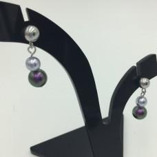"Pearl earrings ""Lilac"""