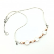 "Necklace ""Peach complexion"""